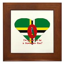 Dominica Fan flag Framed Tile