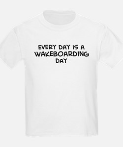 Wakeboarding day Kids T-Shirt
