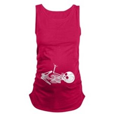 Baby Skeleton Shaka Maternity Tank Top