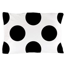Black | White Big Polka Dots Pillow Case