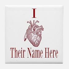 I Heart You Tile Coaster