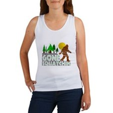 Gone Squatchin Vintage Retro Distressed Tank Top