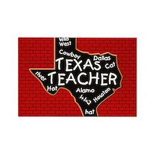 Texas Teacher Rectangle Magnet