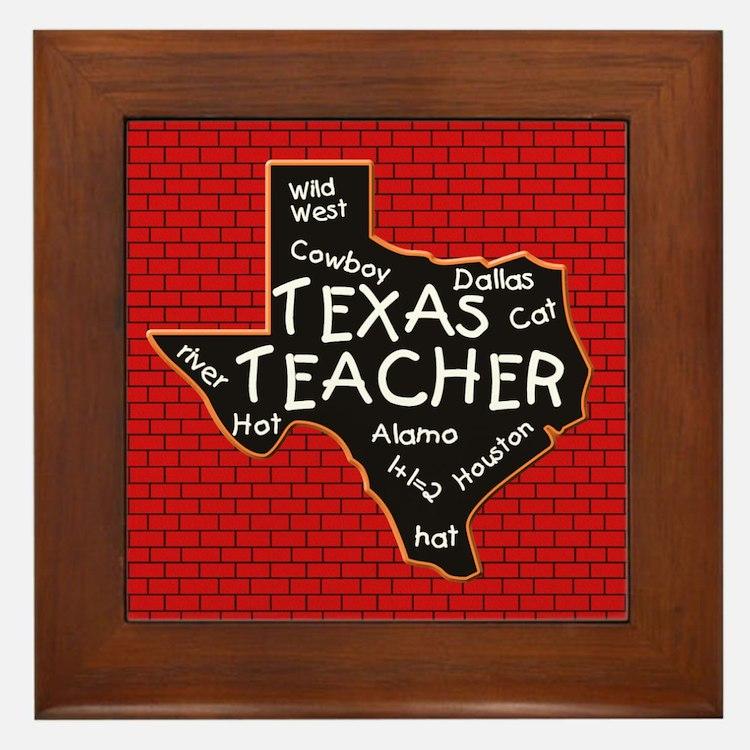 Texas Teacher Framed Tile