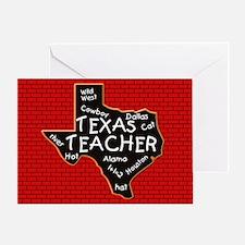 Texas Teacher Greeting Card