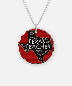 Texas Teacher Necklace