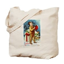 Vintage 1900s Christmas Greetings Tote Bag