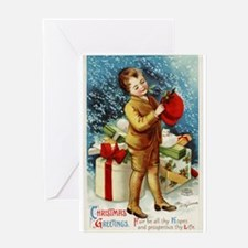 Vintage 1900s Christmas Greetings Greeting Card