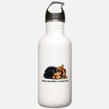 Yorkie Being Adorable Water Bottle