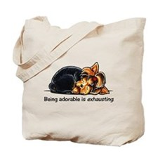 Yorkie Being Adorable Tote Bag