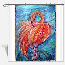 Flamingo! Colorful, bird art! Shower Curtain