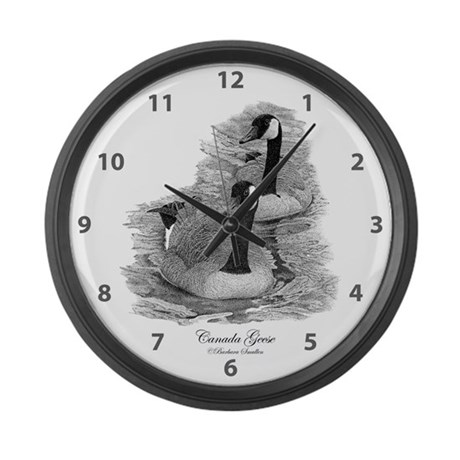 canada geese large wall clock by smullen239