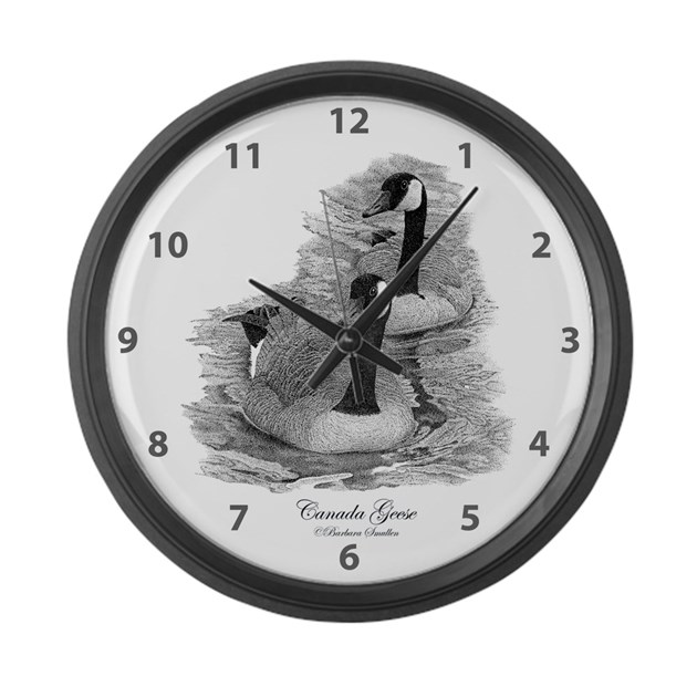 Canada geese large wall clock by smullen239 for Oversized wall clocks canada