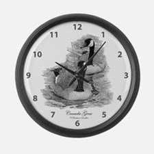 Canada Geese Large Wall Clock