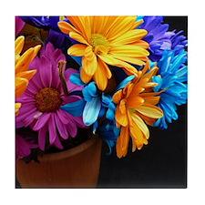 Extra-Bright Daisy Flowers Tile Coaster