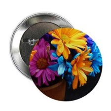 """Extra-Bright Daisy Flowers 2.25"""" Button"""