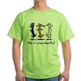 Dachshund Green T-Shirt