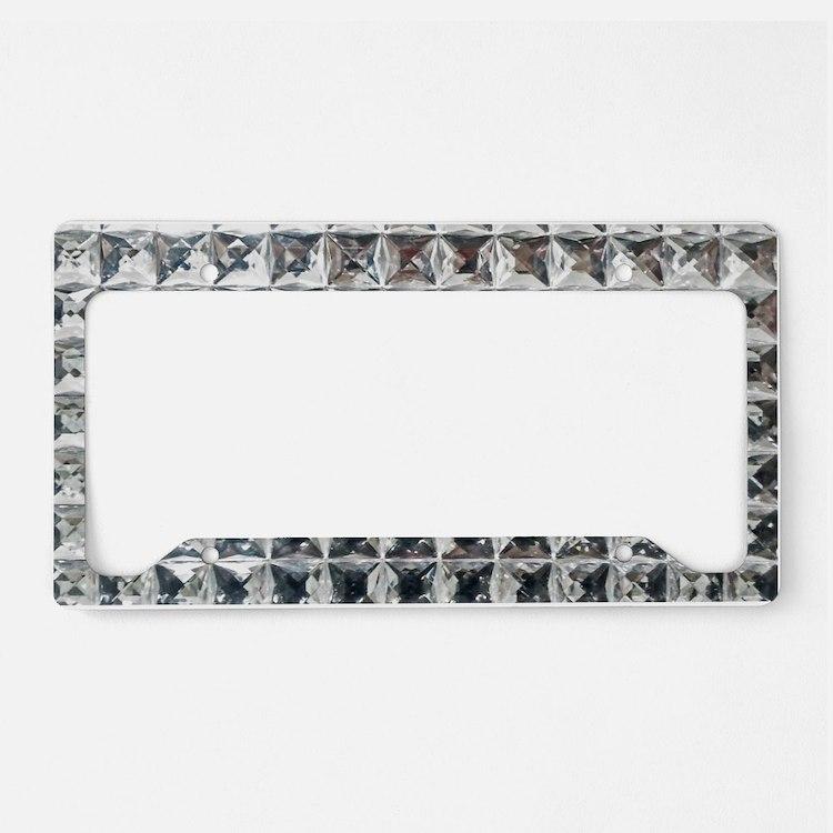 Square Diamond Bling License Plate Holder