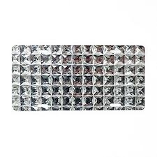 Square Diamond Bling Aluminum License Plate