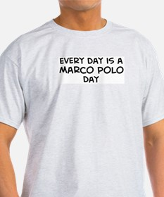 Marco Polo day Ash Grey T-Shirt