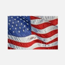 Waving Wind American Flag Rectangle Magnet