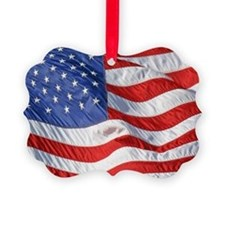 Waving Wind American Flag Ornament