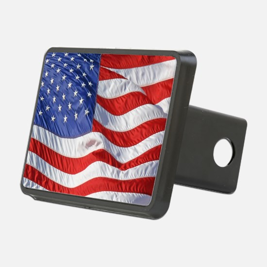 Waving Wind American Flag Hitch Cover