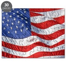 Waving Wind American Flag Puzzle