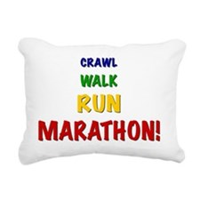 Crawl Walk Run Marathon Rectangular Canvas Pillow