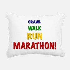 Crawl Walk Run Marathon Rectangular Canvas Pillow