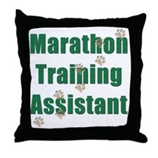 Marathon Training Assistant Throw Pillow