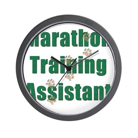 Marathon Training Assistant Wall Clock