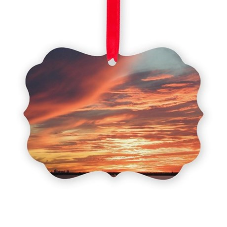 wcsunset02 Picture Ornament