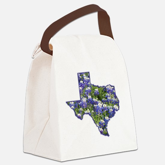 Texas Bluebonnets Canvas Lunch Bag