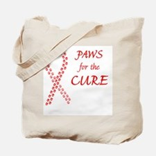 red_pawsforthecure_btn Tote Bag