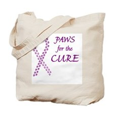 btn_paw4cure_purple Tote Bag