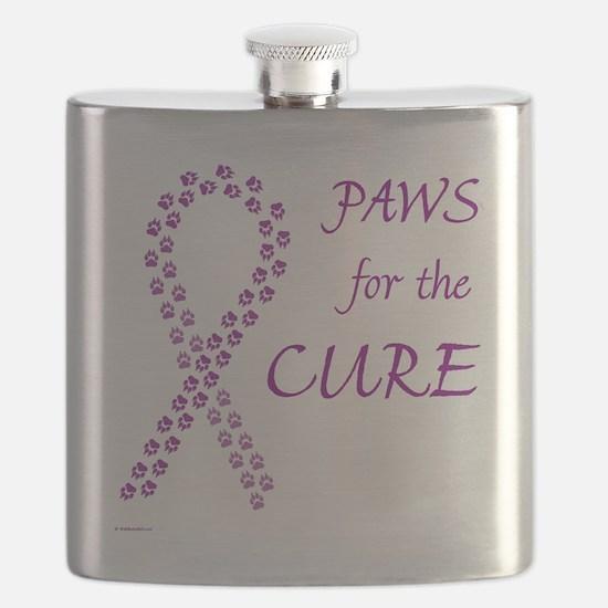 paw4cure_purple Flask