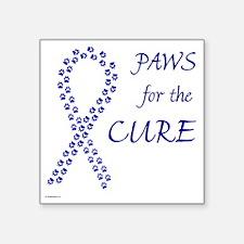 "paw4cure_blue Square Sticker 3"" x 3"""