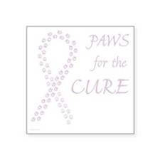 "paw4cure_orchid Square Sticker 3"" x 3"""
