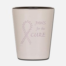 paw4cure_orchid Shot Glass