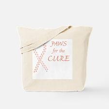 btn_paw4cure_peach Tote Bag