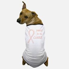 tile_paw4cure_peach Dog T-Shirt