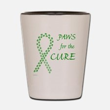 tile_paw4cure_green Shot Glass