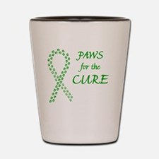 btn_paw4cure_green Shot Glass