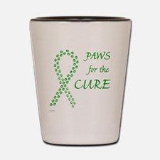 paw4cure_green Shot Glass