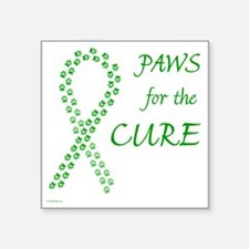 """paw4cure_green Square Sticker 3"""" x 3"""""""