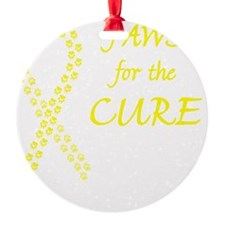 btn_paw4cure_yellow Ornament