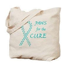 trp_paw4cure_teal Tote Bag
