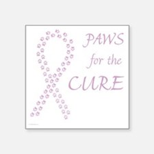 """trp_paw4cure_lvdr Square Sticker 3"""" x 3"""""""