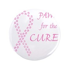 "trp_paw4cure_pink2 3.5"" Button"